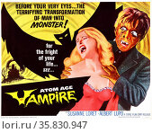 Atom Age Vampire' with Susanne Loret and Albert Lupo a 1960 horror/science fiction film. Редакционное фото, агентство World History Archive / Фотобанк Лори