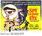Spy in your Eye', 1965, starring Brett Halsey, Pier Angeli and Dana Andrews. Редакционное фото, агентство World History Archive / Фотобанк Лори