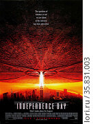 Independence Day' a 1996 American science fiction disaster film. The film stars Will Smith, Bill Pullman, Jeff Goldblum and Mary McDonnell. Редакционное фото, агентство World History Archive / Фотобанк Лори