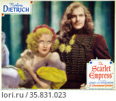 The Scarlet Empress' a 1934 lavish depiction of sex and deceit starring Marlene Dietrich. Редакционное фото, агентство World History Archive / Фотобанк Лори