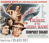 The Treasure of the Sierra Madre' a 1948 American dramatic adventure film starring Humphrey Bogart.. Редакционное фото, агентство World History Archive / Фотобанк Лори