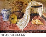 Jun V. Tiongco, La Alfombra I, 1993. Oil on canvas. Редакционное фото, агентство World History Archive / Фотобанк Лори