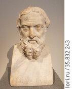 Roman Marble head circa 2nd century AD. Редакционное фото, агентство World History Archive / Фотобанк Лори