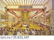 Daidai Kagura performance at the two sites, Ise Shrine. Редакционное фото, агентство World History Archive / Фотобанк Лори