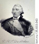 Louis Philippe Joseph, Duke of Orleans. Редакционное фото, агентство World History Archive / Фотобанк Лори