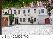 Das Matsch im Zentrum von Plauen wurde bereits 1503 erwähnt und ist... Стоковое фото, фотограф Zoonar.com/Dr.-Ing. Frank Knorr / age Fotostock / Фотобанк Лори