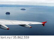 Anflug auf die Insel Santa Cruz, Galapagos Inseln, Ecuador / Approaching... Стоковое фото, фотограф Zoonar.com/georg_A / age Fotostock / Фотобанк Лори