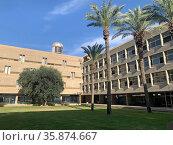 Training building of Ben Gurion University in Beer Sheva. Редакционное фото, фотограф Irina Opachevsky / Фотобанк Лори