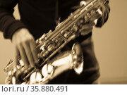 Saxophone. Стоковое фото, агентство Ingram Publishing / Фотобанк Лори