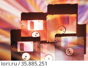 floppy disks. Стоковое фото, агентство Ingram Publishing / Фотобанк Лори