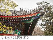 Close-up of ornate Chinese rooftop. Стоковое фото, агентство Ingram Publishing / Фотобанк Лори