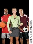 Portrait of sports people. Стоковое фото, фотограф Shannon Fagan / Ingram Publishing / Фотобанк Лори