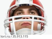 American football player. Стоковое фото, фотограф Shannon Fagan / Ingram Publishing / Фотобанк Лори