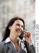 Businesswoman on cellphone. Стоковое фото, фотограф Shannon Fagan / Ingram Publishing / Фотобанк Лори