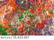 Abstract colored grunge texture. Colorful decorative distress background... Стоковое фото, фотограф Zoonar.com/BASHTA / easy Fotostock / Фотобанк Лори