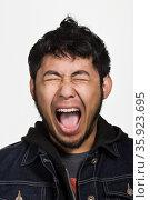 Portrait of young adult Asian man. Стоковое фото, фотограф Shannon Fagan / Ingram Publishing / Фотобанк Лори