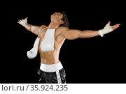 Boxer celebrating. Стоковое фото, фотограф Shannon Fagan / Ingram Publishing / Фотобанк Лори