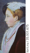 EDWARD VI (1537-53) king of England and Ireland from 1547;son of Henry VIII and Jane Seymour;always a sickly child, died of natural causes. Редакционное фото, агентство World History Archive / Фотобанк Лори