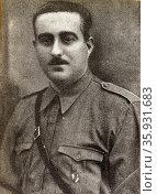 Nicolas Franco 1891 - 1977. Spanish soldier and politician. Редакционное фото, агентство World History Archive / Фотобанк Лори