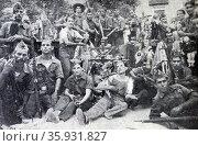 Brigade of death, anarchist group members. Редакционное фото, агентство World History Archive / Фотобанк Лори