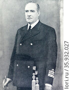 Vice Admiral Manuel Ruiz de Atuari, Nationalist naval. Редакционное фото, агентство World History Archive / Фотобанк Лори