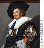 Painting titled 'The Laughing Cavalier' by Frans Hals. Редакционное фото, агентство World History Archive / Фотобанк Лори