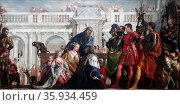 Painting titled 'The Family of Darius before Alexander' by Paolo Veronese. Редакционное фото, агентство World History Archive / Фотобанк Лори