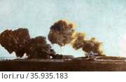 German guns defend Heligoland Islands from British naval attack: Редакционное фото, агентство World History Archive / Фотобанк Лори