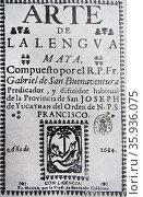 Arte de la lengua Maya (Mexico; 1684) Редакционное фото, агентство World History Archive / Фотобанк Лори