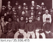 Photograph of a young men's Christian Association in Japan. Редакционное фото, агентство World History Archive / Фотобанк Лори