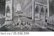 Coronation of King William IV and Queen Adelaide at Westminster Abbey. Редакционное фото, агентство World History Archive / Фотобанк Лори
