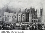 Coronation procession of King William IV and Queen Adelaide at Westminster Abbey. Редакционное фото, агентство World History Archive / Фотобанк Лори