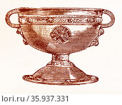 the Ardagh Chalice; Celtic metalwork goblet from the 8th - 9th centuries. Редакционное фото, агентство World History Archive / Фотобанк Лори