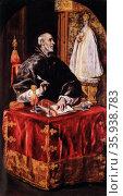 Painting titled 'San Ildefonso' by El Greco. Редакционное фото, агентство World History Archive / Фотобанк Лори