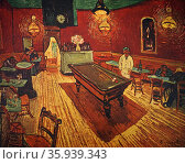 Vincent van Gogh (1853-1890) post-Impressionist painter. The Night Café 1888, oil on canvas. Редакционное фото, агентство World History Archive / Фотобанк Лори