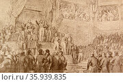 Louis Philippe taking the oath of constitution. Редакционное фото, агентство World History Archive / Фотобанк Лори