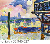 André Derain 'Blackfriars Bridge' 1906, oil on canvas. Редакционное фото, агентство World History Archive / Фотобанк Лори