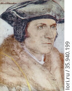 Sir Thomas More by Hans Holbein the Younger; 1526-27. Редакционное фото, агентство World History Archive / Фотобанк Лори