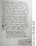 Letter from the Mayor and Council of York. Редакционное фото, агентство World History Archive / Фотобанк Лори