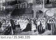 Marriage of Prince of Wales (later King Edward VII) to Princess Alexandra 1868. Редакционное фото, агентство World History Archive / Фотобанк Лори