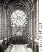 Interior of Sainte-Chapelle. Редакционное фото, агентство World History Archive / Фотобанк Лори