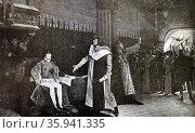 Print of 'Étienne Marcel' by Lucien Stephen Mélingue. Редакционное фото, агентство World History Archive / Фотобанк Лори