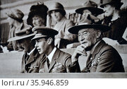 Photograph of Prince Albert and Lord Baden-Powell during a Jamboree held at Wembley (2016 год). Редакционное фото, агентство World History Archive / Фотобанк Лори