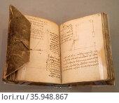 Part of The Codex Forster II by Leonardo da Vinci. Редакционное фото, агентство World History Archive / Фотобанк Лори