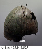 An Aufidus bronze embossed helmet. Редакционное фото, агентство World History Archive / Фотобанк Лори