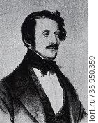 Portrait of Gaetano Donizetti. Редакционное фото, агентство World History Archive / Фотобанк Лори