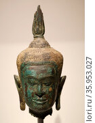 Bronze head of a Buddha. Редакционное фото, агентство World History Archive / Фотобанк Лори
