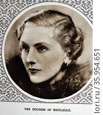Photograph of Jane Scott, Duchess of Buccleuch. Редакционное фото, агентство World History Archive / Фотобанк Лори