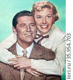 Photograph of Gordon MacRae and Doris Day. Редакционное фото, агентство World History Archive / Фотобанк Лори