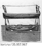 Engraving of the Berthon Folding Boat (2016 год). Редакционное фото, агентство World History Archive / Фотобанк Лори